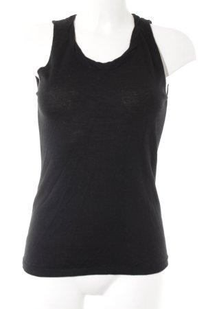 Stefanel Tanktop schwarz minimalistischer Stil