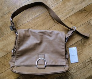 Stefanel College Bag grey brown synthetic