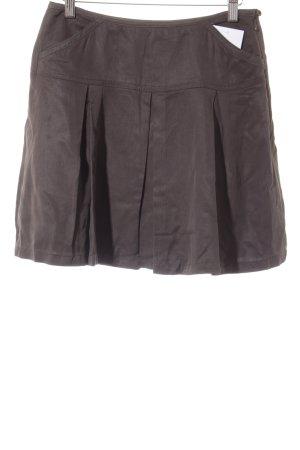 Stefanel Circle Skirt dark brown classic style