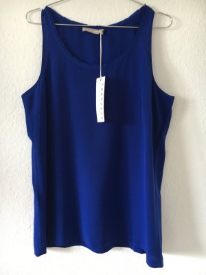 Stefanel Top in seta blu