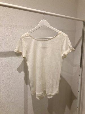 Stefanel T-shirts en mailles tricotées blanc cassé-crème