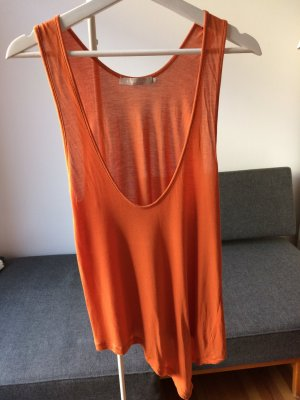 STEFANEL Top Orange Gr. S wie neu!