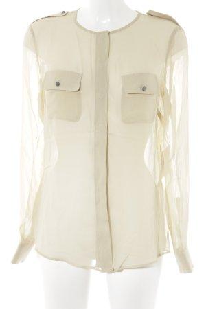 Stefanel Transparenz-Bluse beige Casual-Look