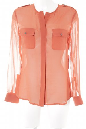 Stefanel Transparenz-Bluse rot Casual-Look