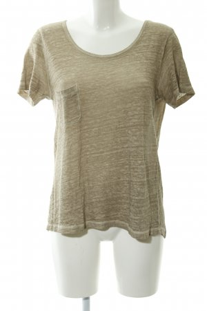 Stefanel Boothalsshirt room-taupe gestippeld casual uitstraling