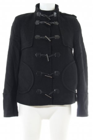 Stefanel Übergangsjacke schwarz Casual-Look