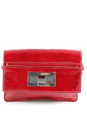 2ba375f46f Stefanel Borsa a spalla rosso scuro-argento impronta animale