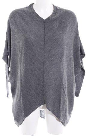 Stefanel V-Ausschnitt-Pullover grau meliert Casual-Look