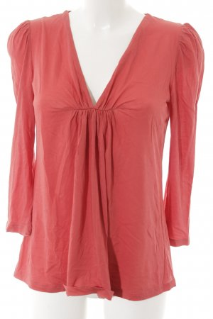 Stefanel V-Ausschnitt-Shirt rostrot Casual-Look