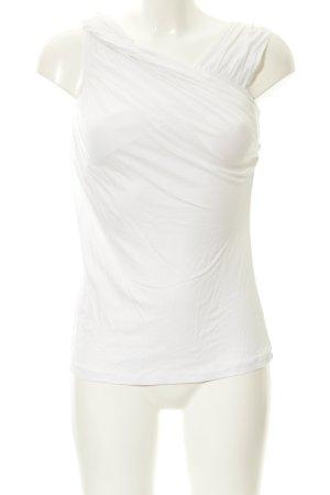 Stefanel Top tipo cascada blanco look casual