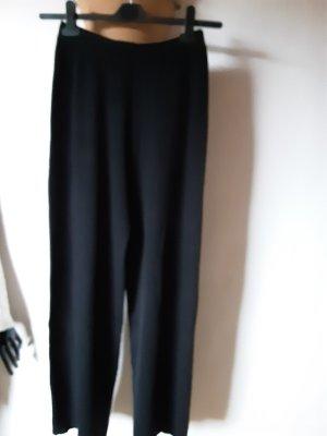 Stefanel, weit geschnittene schwarze Hose Gr. S