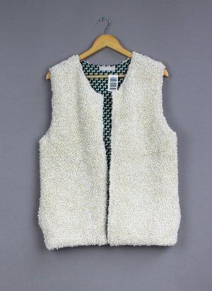 Stefanel Knitted Vest oatmeal-dark grey