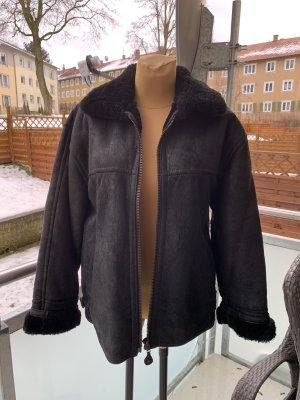 Stefanel winterjacke vintage echt Leder schwarz