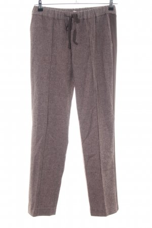 Stefanel Woolen Trousers brown flecked casual look