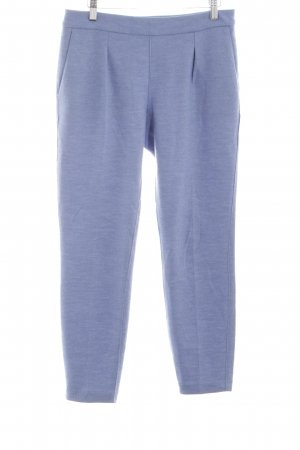 Stefanel Woolen Trousers blue allover print casual look