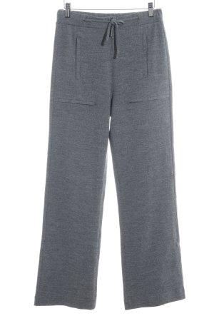 Stefanel Wollen broek grijs gestippeld casual uitstraling