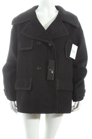 Stefanel Wolljacke schwarz klassischer Stil