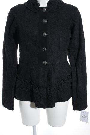 Stefanel Wolljacke schwarz-wollweiß klassischer Stil