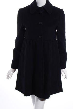 Stefanel Wollmantel schwarz schlichter Stil