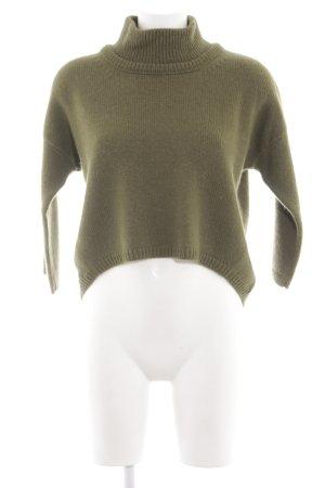 Stefanel Maglione di lana cachi-verde stile casual