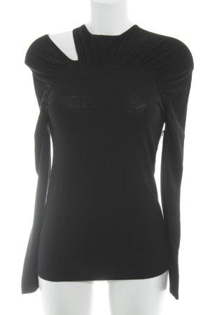 Stefanel Wollen trui zwart elegant