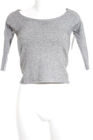 Stefanel Jersey de lana color plata-gris claro moteado look casual