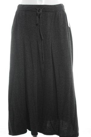Stefanel Wool Skirt dark grey fluffy