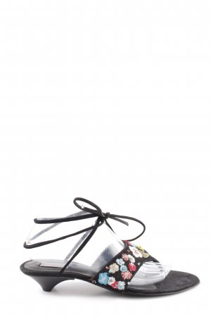 Stefanel High-Heeled Toe-Post Sandals black casual look