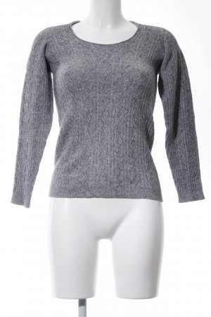 Stefanel Jersey trenzado gris claro moteado look casual