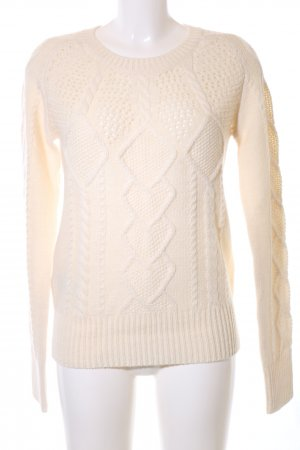 Stefanel Cable Sweater natural white cable stitch casual look