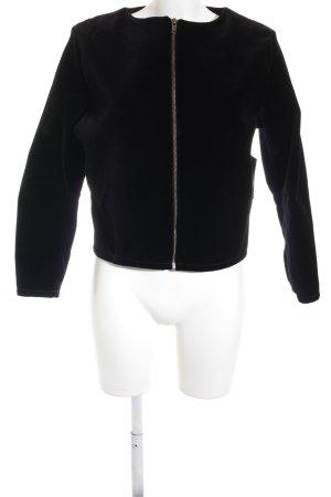 Stefania Marra Kort jack zwart minimalistische stijl
