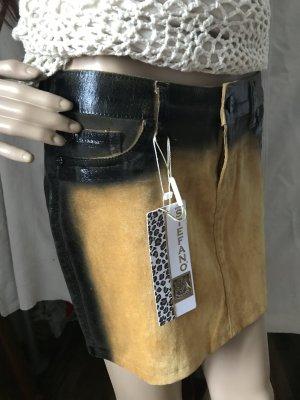 Stefano Jeans Mini-jupe jaune-noir