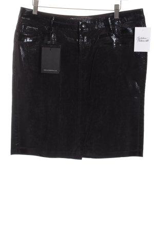 Stefano Jeans Minirock schwarz Lack-Optik