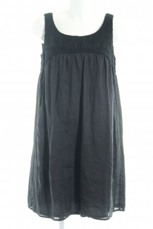 Steffen Schraut A-Linien Kleid anthrazit-schwarz Blumenmuster klassischer Stil