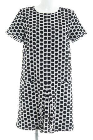 Steffen Schraut A-Linien Kleid schwarz-weiß grafisches Muster Casual-Look