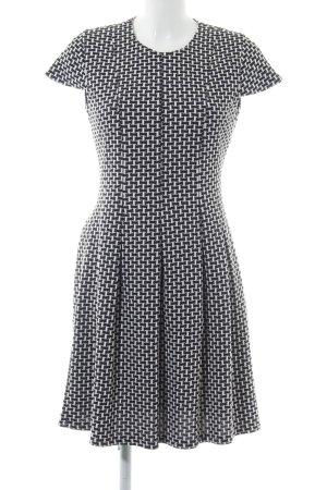 Steffen Schraut A-Linien Kleid weiß-schwarz abstraktes Muster Casual-Look