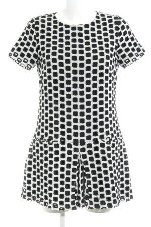 Steffen Schraut A-Linien Kleid weiß-schwarz grafisches Muster