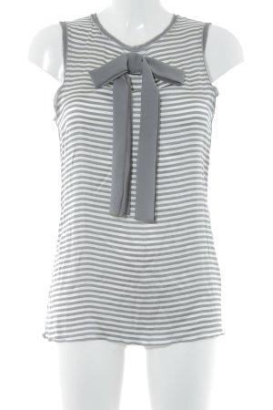 Steffen Schraut Blusa senza maniche grigio scuro-bianco motivo a righe elegante