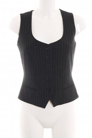 Steffen Schraut Waistcoat black-light grey striped pattern business style