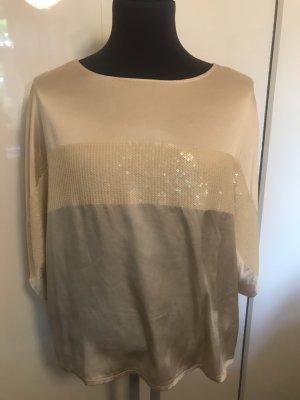 Steffen Schraut Zijden blouse room-licht beige