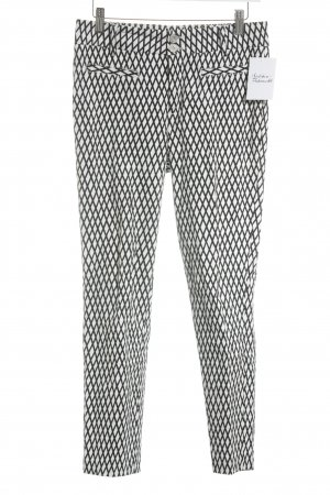 Steffen Schraut Pleated Trousers black-white abstract pattern business style