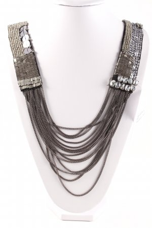 Steffen Schraut Necklace black-silver-colored business style