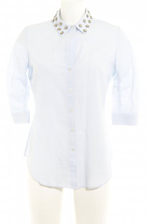 Steffen Schraut Hemd-Bluse himmelblau-wollweiß Streifenmuster Business-Look