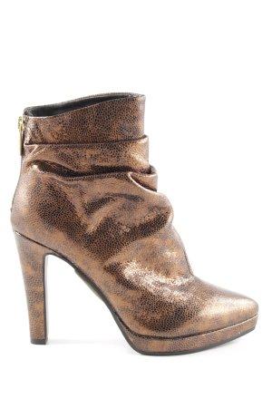 Steffen Schraut Chaussure à talons carrés bronze style extravagant