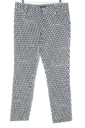 Steffen Schraut Hüfthose weiß-dunkelblau abstraktes Muster Casual-Look