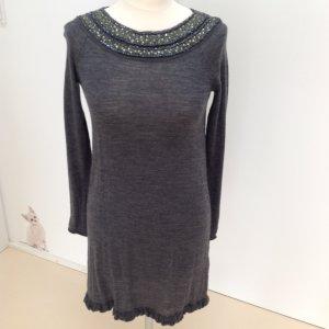 Steffen Schraut Vestido de lana gris antracita lana merina