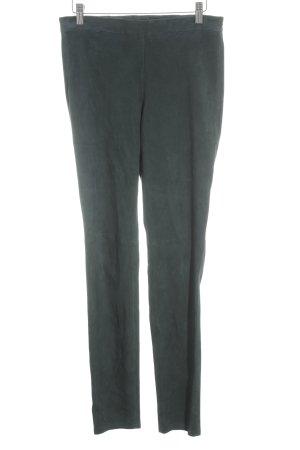 Steffen Schraut Pantalone in pelle petrolio stile da moda di strada