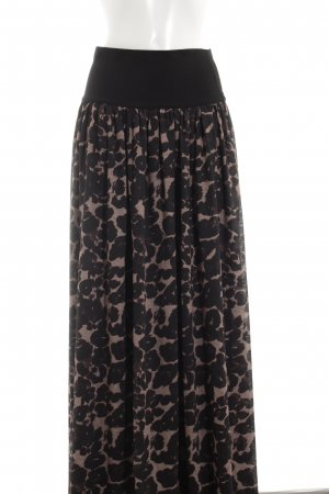 Steffen Schraut Maxi Skirt black abstract pattern casual look