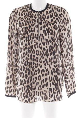 Steffen Schraut Oversized blouse licht beige-zwart bruin luipaardprint