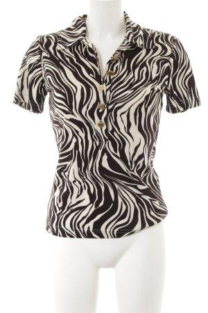 Steffen Schraut Polo-Shirt creme-schwarzbraun Animalmuster Casual-Look